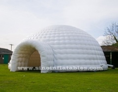 tente dôme igloo gonflable géante blanche