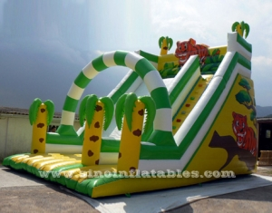 6 mts de haut enfants toboggan gonflable de la jungle