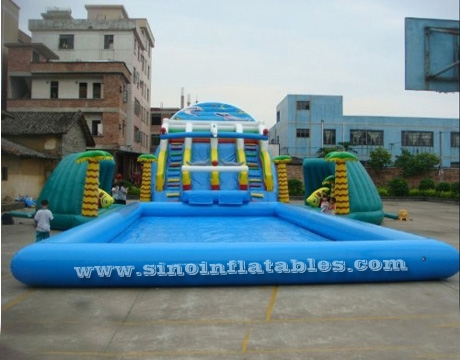 tropical rain forest kids big inflatable water park