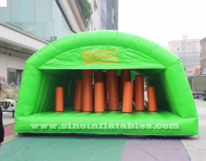 tente gonflable de tunnel d'obstacle pour grands adultes