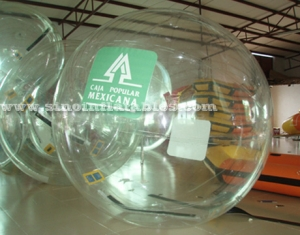 ballon de marche gonflable transparent