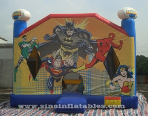 ligue de la justice commerciale enfants bounce house