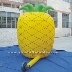 ananas gonflable publicitaire jaune