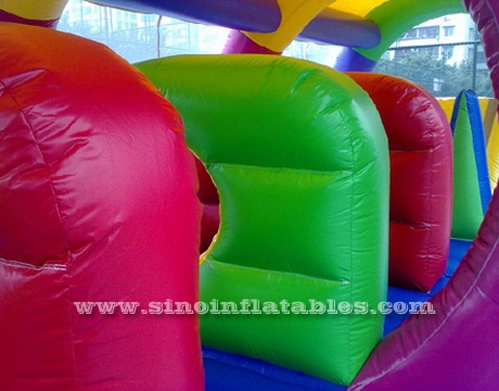 kids race tunnel inflatable obstacle course