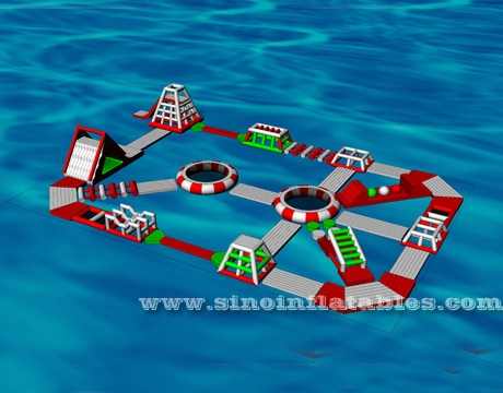 custom design giant inflatable floating water park for adults