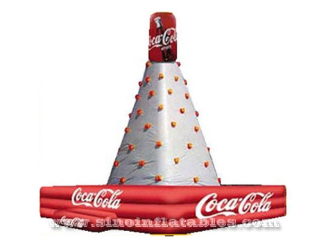 high giant Cola advertising inflatable rock climbing wall