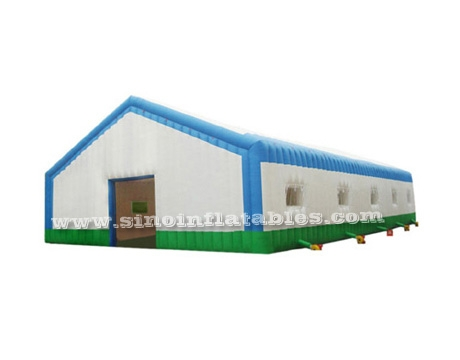 white N blue giant house inflatable tent