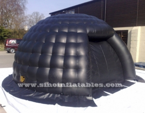 tente igloo gonflable petite bulle noire