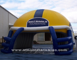 tunnel de casque de football gonflable traverser