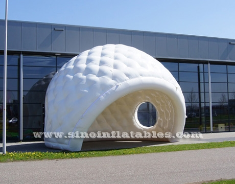 movable white inflatable golf tent