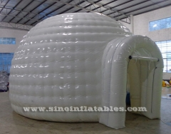 tente igloo gonflable blanche