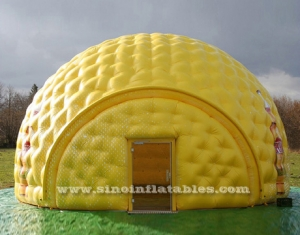 10m Dia. big yellow inflatable golf tent