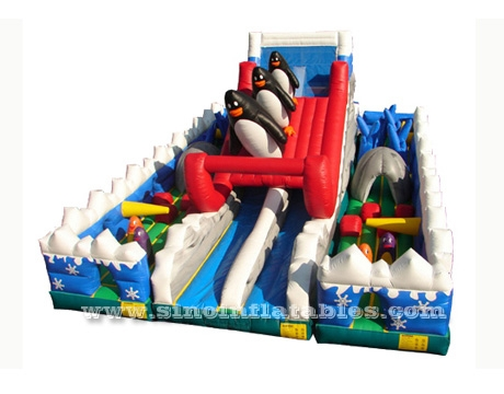 Antarctica dolphins kids indoor inflatable obstacle course