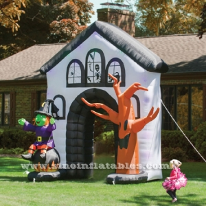 grand hall soufflé halloween gonflable hanté arche