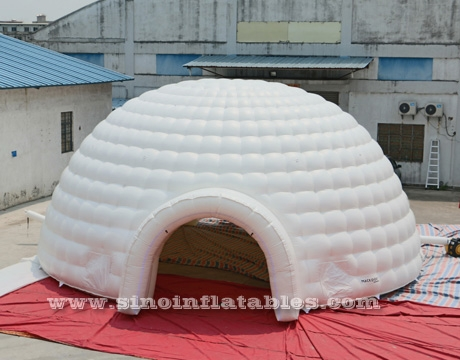 white giant inflatable igloo dome tent