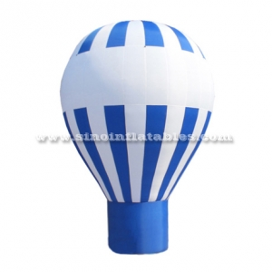 ballon gonflable bleu