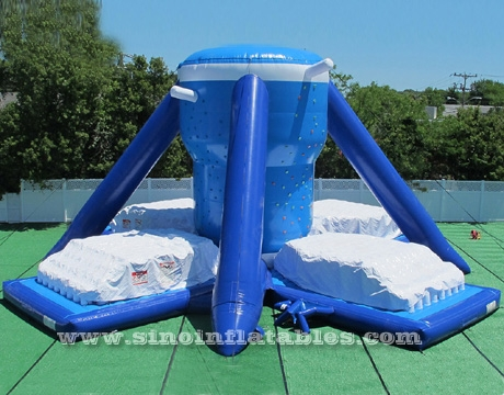 adults Free Klimb inflatable climbing wall with airbag bases