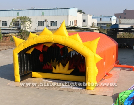 adults inflatable obstacle course with tent cover