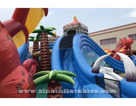 giant jurassic inflatable water park