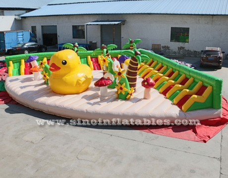 big yellow duck inflatable theme park