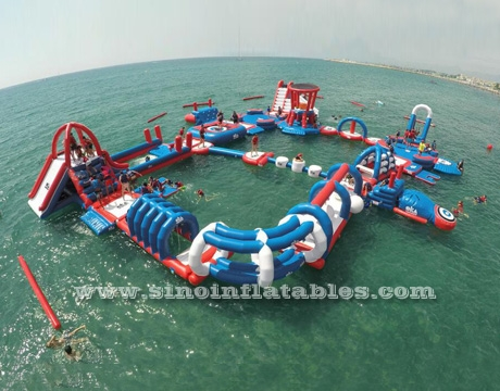 inflatable floating water obstacle course