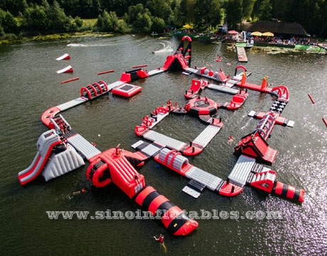 boot camp giant inflatable floating water park for adults