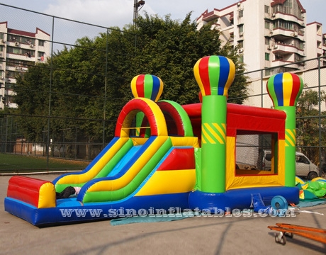 kids inflatable bounce house with slide