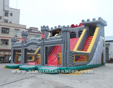 kids giant inflatable medieval castle slide