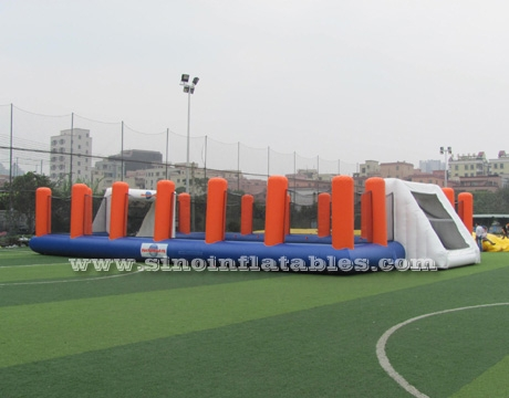 children N adults inflatable soccer field with high rails