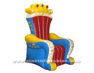 chaise chrone gonflable d'enfants de roi