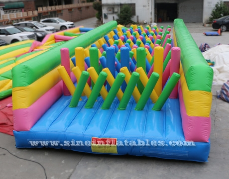 en14960 kids N adults inflatable obstacle course