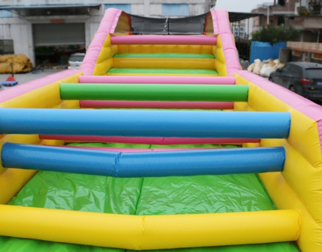 long adult inflatable obstacle course