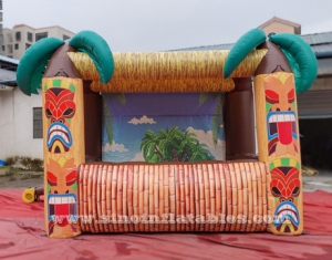 bar gonflable portable hutte tiki