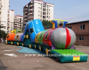 tunnel de train gonflable pour enfants