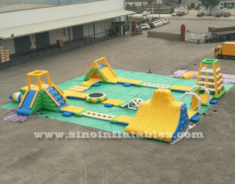 giant inflatable floating water park for adults
