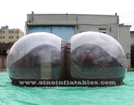 clear top resort glamping bubble tent hotel