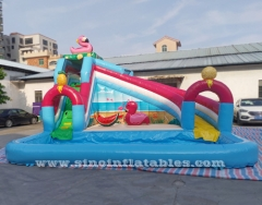 flamingo lake kids piscine gonflable de glissière avec grande piscine