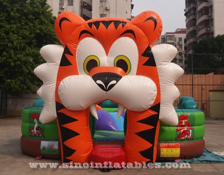 indoor big tiger inflatable toddler bouncy castle