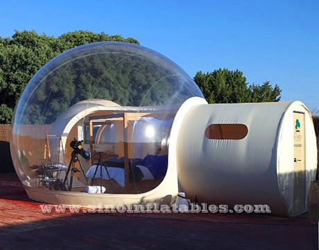 clear inflatable bubble lodge hotel