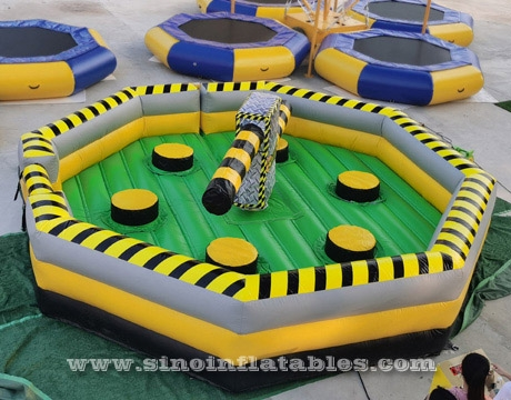 physical agility challenge inflatable meltdown game