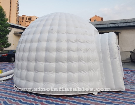 white small inflatable igloo dome tent
