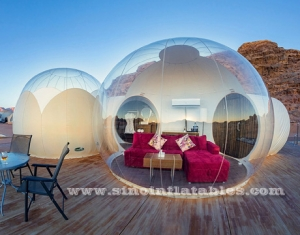 Top clair Logde Bubble gonflable Luxotel suite