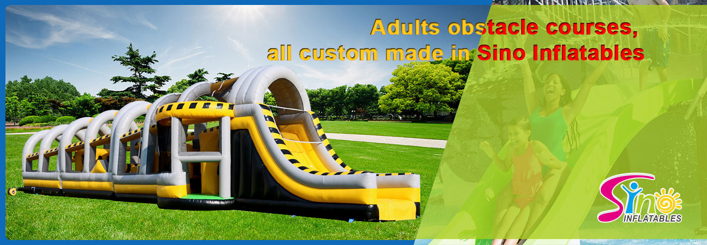 Big challenge adults inflatable obstacle courses from Sino Inflatables